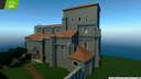 Replica Minecraft Church of Santiago Apostol de Villamoron, Burgos, Spain. Minecraft Map & Project