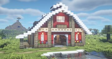 Classic Barn with Stables Minecraft Map & Project