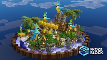 OneBlock Tropical Lobby Minecraft Map & Project