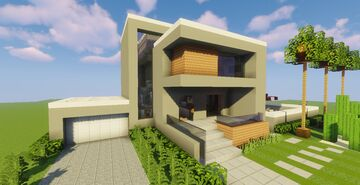 Modern House #53  (Map + Schematic) Minecraft Map & Project