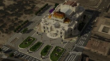 Palacio de Bellas Artes in Mexico City, Mexico (on 1:1 scale, BuildtheEarth) Minecraft Map & Project