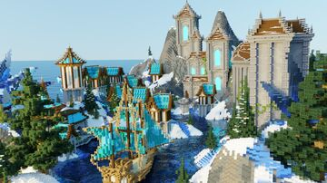 ❄️SPAWN WINTER FORTRESS❄️ *Non-Exclusive* Minecraft Map & Project