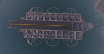 Aircraft Carrier (Air + Sea) Minecraft Map & Project
