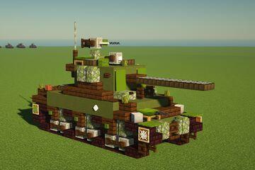 M4A1(76)w Sherman Tank Minecraft Map & Project
