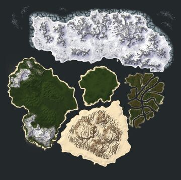 Alfheim: MultiBiome 8x8k Map Minecraft Map & Project