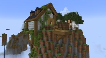 House on a Cliff Minecraft Map & Project