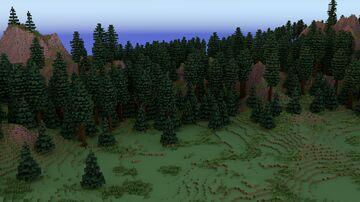 Taiga Hills Terrain 2048x2048   1.8+ Minecraft Map & Project