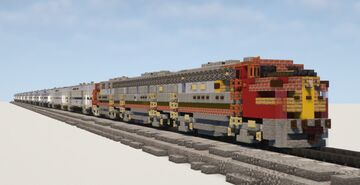 1.5:1 Scale AT&SF San Diegan Passenger Train Minecraft Map & Project