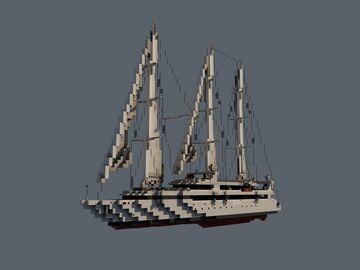 """Le Ponant"" Sail Yacht Minecraft Map & Project"