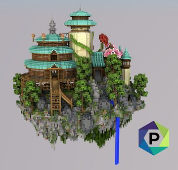 Oriental Palace Floating Hub | 1.8+ Minecraft Map & Project