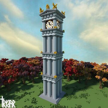 Clock Tower +tutorial Minecraft Map & Project