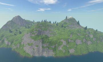 Mountain isle Minecraft Map & Project