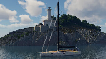 Nautor Swan 78 - Luxury Sailboat Minecraft Map & Project