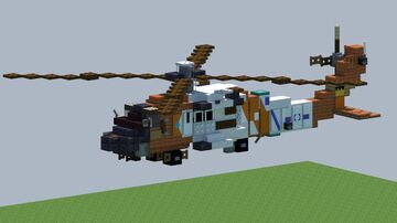 SIkorsky MH-60 Jayhawk, Helicopter [With Download] Minecraft Map & Project