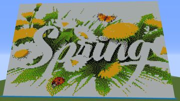 Working Command Block Color Changing Spring Logo Minecraft Map & Project