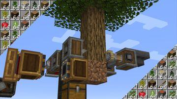 Create - Automatic Tree Farm (Single Sapling) Minecraft Map & Project