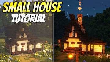 Minecraft: How to build a Small Survival House   Building Tutorial Minecraft Map & Project