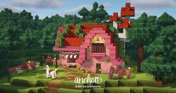 Pink Mushroom Cottage 🌸🧚 Minecraft Map & Project