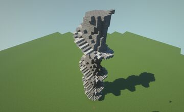 Stone Spiral Stairs (Stackable) - Outer Minecraft Map & Project