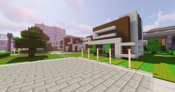 Double plot with 2 modern, cozy houses - (Modern House #6/7) by ArcturusPhoenix Minecraft Map & Project