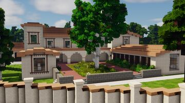 1111 Stradella Road // Modern Mediterranean Villa, LA Inspired Minecraft Map & Project
