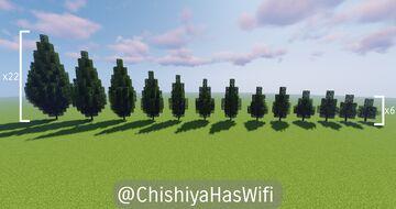 Prim Pine Tree Set Minecraft Map & Project