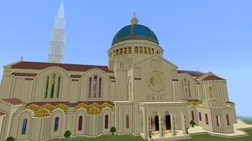 Basilica / Cathedral in Byzantine and Romanesque style Minecraft Map & Project