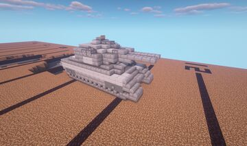 Movecraft Tank - Broadsword-class Tactical Enforcer Minecraft Map & Project
