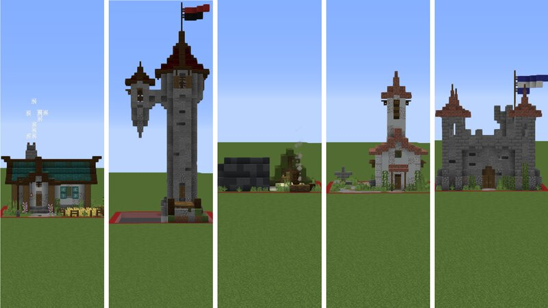 5 diffrent one chunk builds