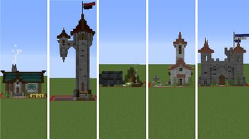5 diffrent one chunk builds Minecraft Map & Project