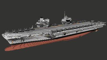 HMS QUEEN ELIZABETH - R08 Minecraft Map & Project