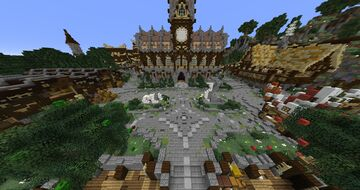 Medium Spawn / Lobby / Hub for Survival, Skyblock, SkyWars, BedWars, LuckyWars, Anarchy, Prison Map Free Download Minecraft Map & Project