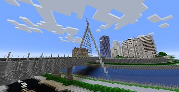 Modern Bridge Minecraft Map & Project
