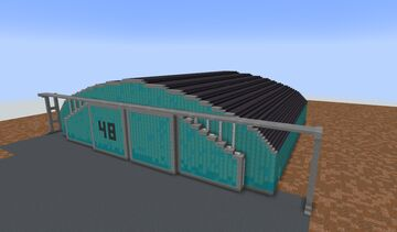 Large Military Hangar (1:1) Minecraft Map & Project