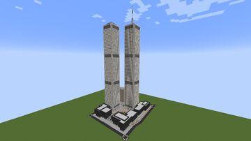 Original New York City World Trade Center Complex Minecraft Map & Project