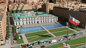 Palacio La Moneda. Santiago de Chile Minecraft Map & Project
