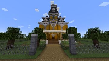 Yellow Victorian / Second empire house Minecraft Map & Project