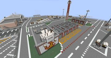 Airport Build #2 | Fire Station 2 Minecraft Map & Project