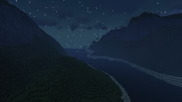 River through the mountains Minecraft Map & Project