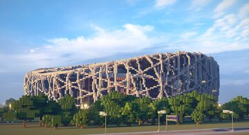 Beijing National Stadium (Bird's Nest) Minecraft Map & Project