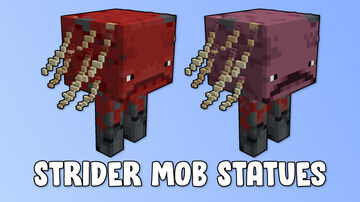 Strider Mob Statues Minecraft Map & Project