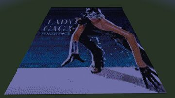 Map Art : Poker Face - Lady Gaga (single) Minecraft Map & Project
