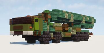 1.5:1 Scale S-500 Prometheus Missile System Minecraft Map & Project