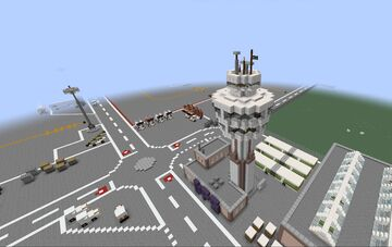 Airport Build #3 | ATC + Tower Minecraft Map & Project