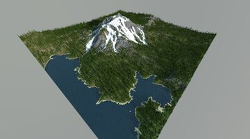Mountain by the lake Minecraft Map & Project