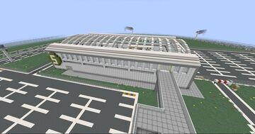 Airport Build #4 | Train Station Minecraft Map & Project