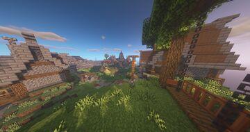 HUB - Flying Mediaval Island Minecraft Map & Project