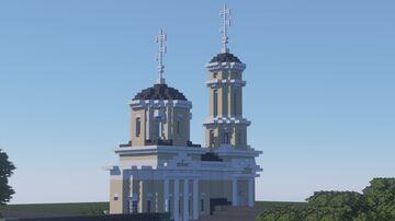 Церковь Воздвижения Честного Креста Господня, Коломна. / Church of the Exaltation of the Holy Cross, Kolomna. Minecraft Map & Project