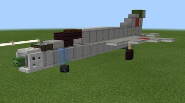 1.5:1 scale MiG-21 Bis Minecraft Map & Project