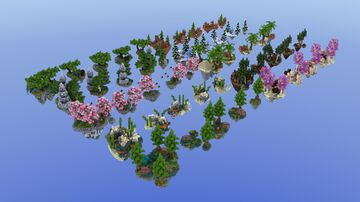 x50 HQ Skyblock Island Pack 1 | 1.8+ Minecraft Map & Project